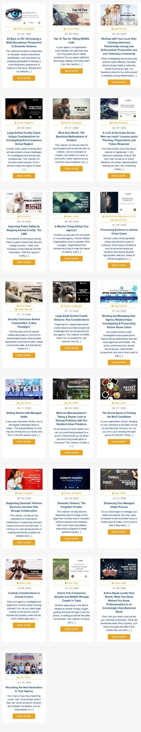 Upcoming 2020 NACA Webinars