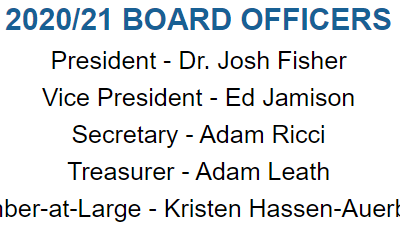 Congratulations to the new Executive Committee for the 2020/2021 year